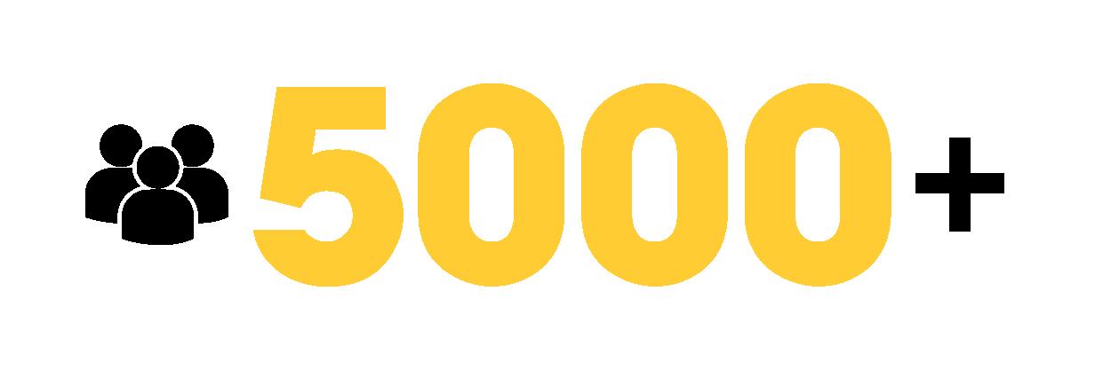 5000 khách hàng tin tưởng